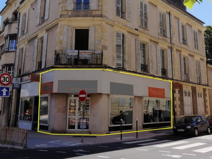 local commercial 120 m² a louer Nevers